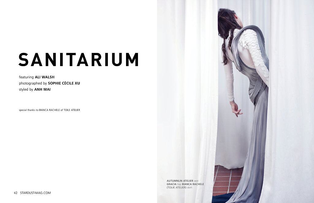 Sanitarium Editorial for STARDUST Magazine photographed by Sophie Cécile Xu