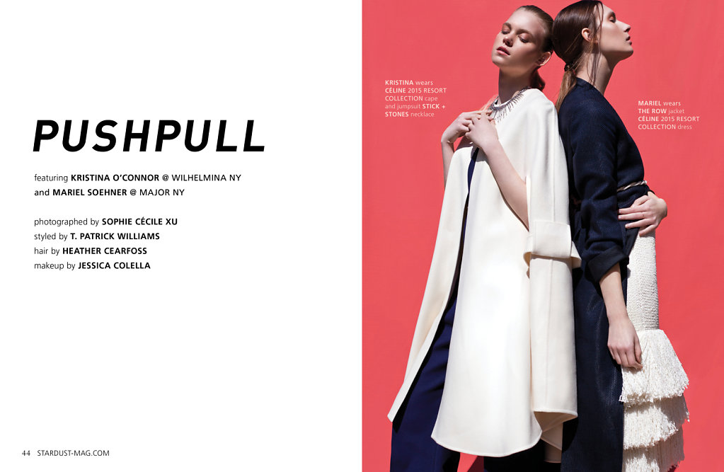 stardust magazine ss15 pushpull sophie cecile xu